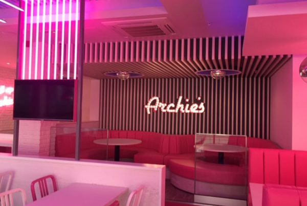 Completed work at Archies burger and shake bar